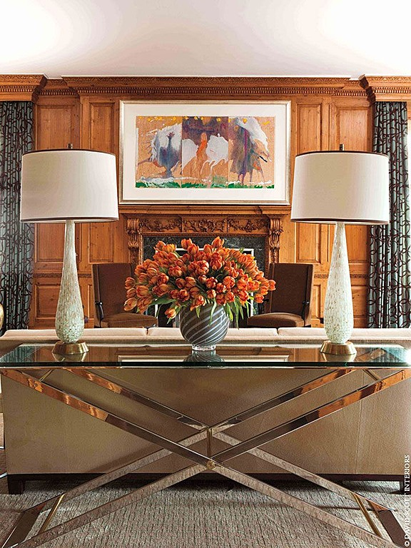 David Scott Interiorsu0027 Design Features A Striking Mirrored Table.
