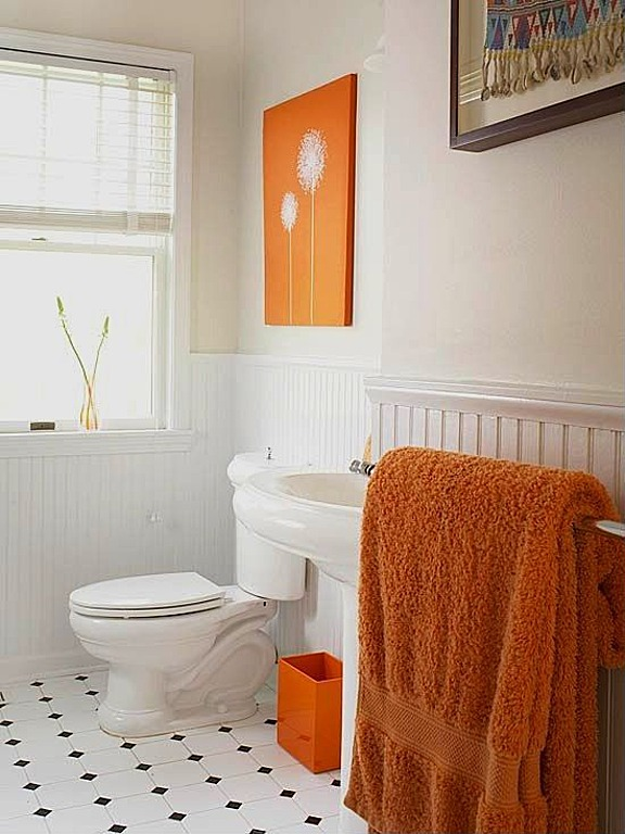 Bathroom Ideas Orange the new neutrals: infusing bold color into the home - zillow