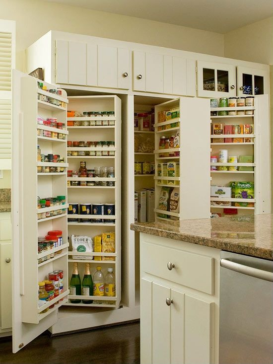 Kitchen Storage Cabinets at Home and Interior Design Ideas