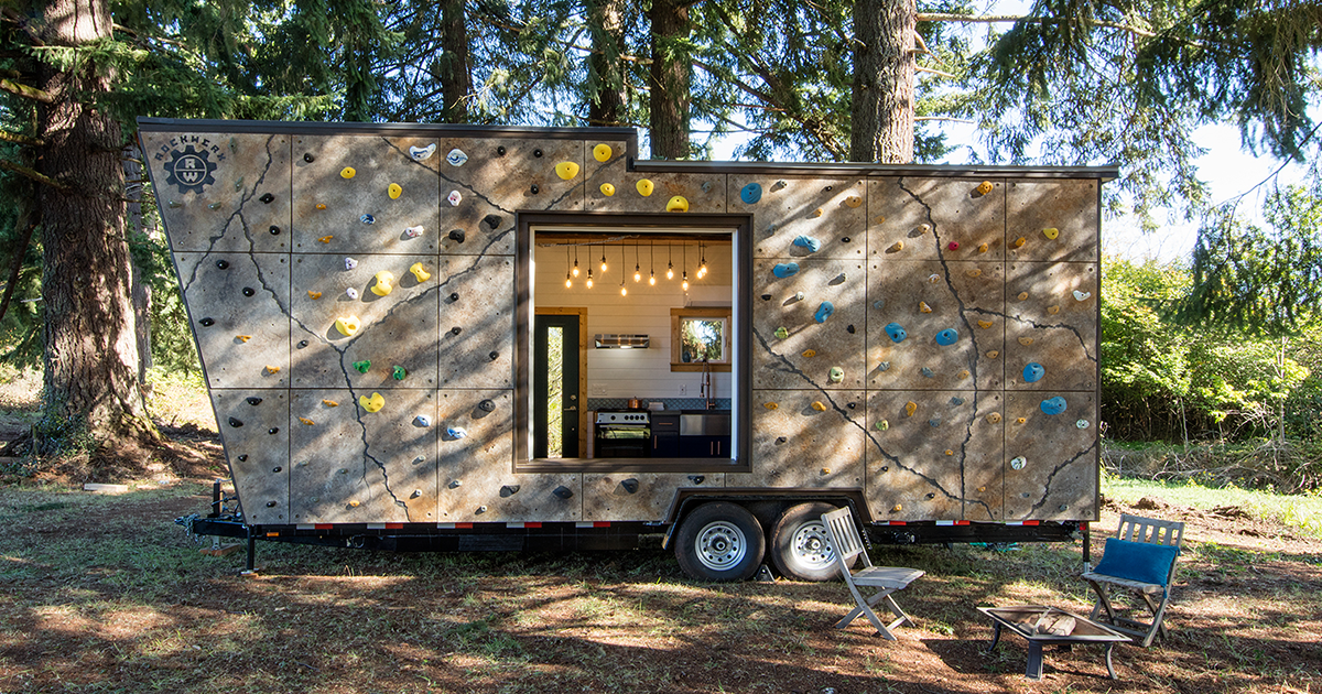 You Ll Be Climbing The Walls Of This Tiny Home House Of