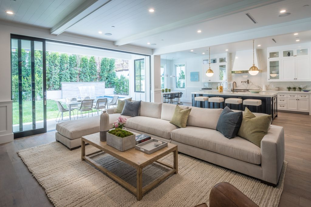 Sectional sofa components can be separated and expanded to change the room photo from zillow listing