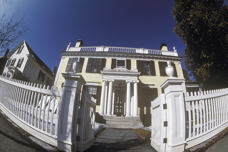 photo of a house using fisheye lens