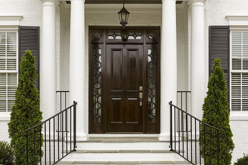 fancy door with sidelites