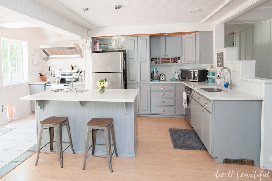 A mostly diy kitchen makeover for under 5 000 home for Remodel a kitchen for under 5000