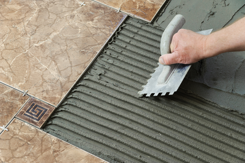 How to install a tile floor home improvement projects for Carrelage slim tile