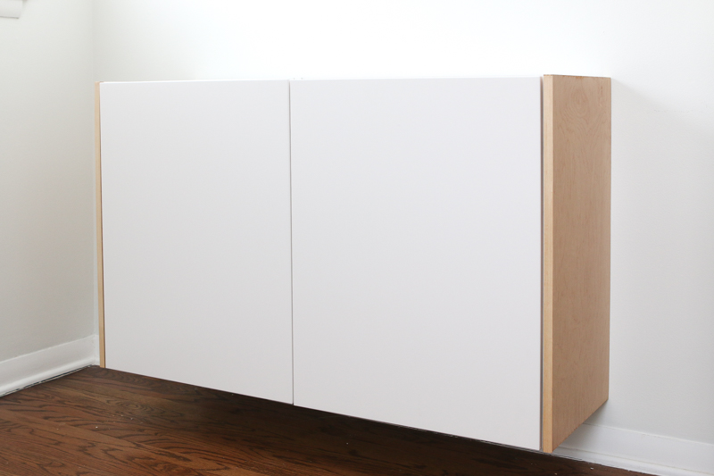 How To Build A Floating Credenza Easy, How To Make A Floating Cabinet