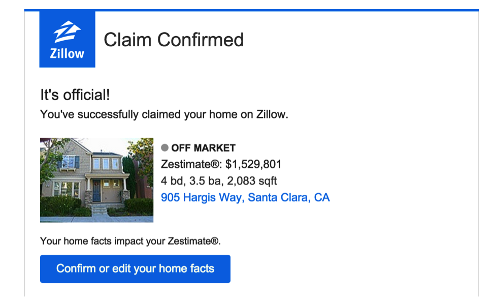 Image result for zillow claim your home