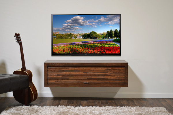 Woodwaves - Floating TV Stand ECO Geo Mocha for $599