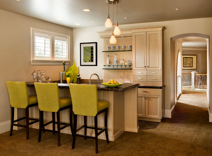 Turn Your Dining Room Into A Home Bar