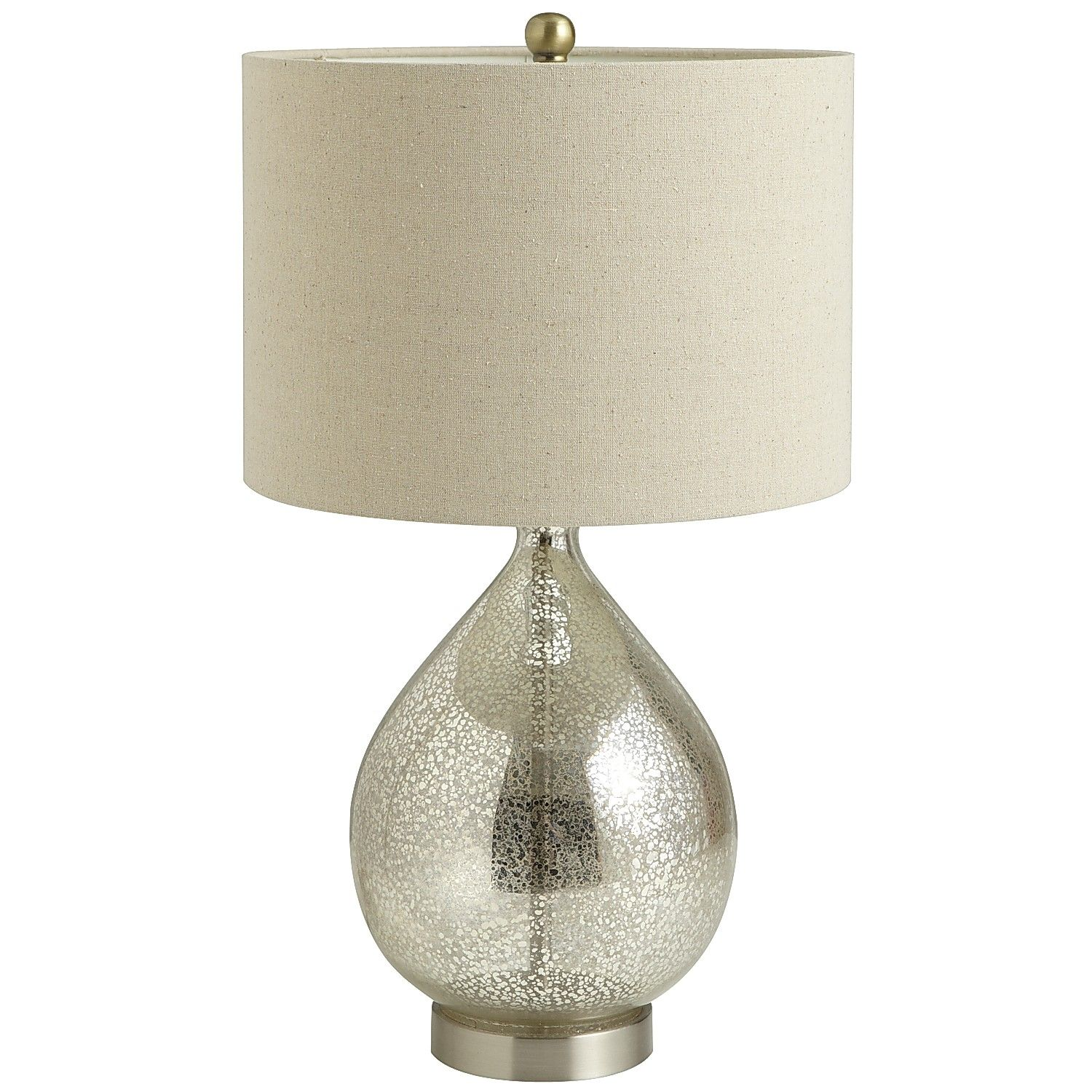 light Teardrop Mercury Glass Table Lamp pier one