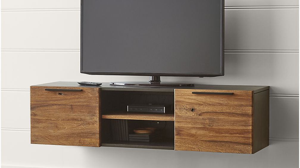 Crate & Barrel - Rigby Small Floating Media Console for $899