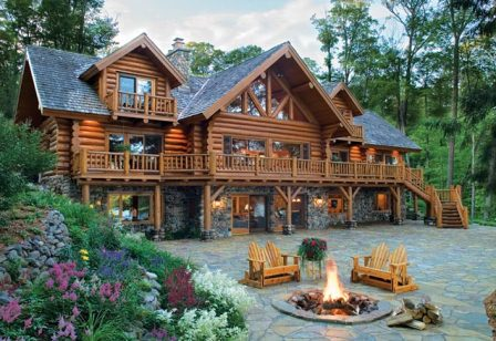 Log Cabin/rustic Homes Are Rectangular And Can Be Made Of Either Logs Or  Other Materials. Rustic Homes Are Typically Made Out Of Wood And Made To  Fit In ...