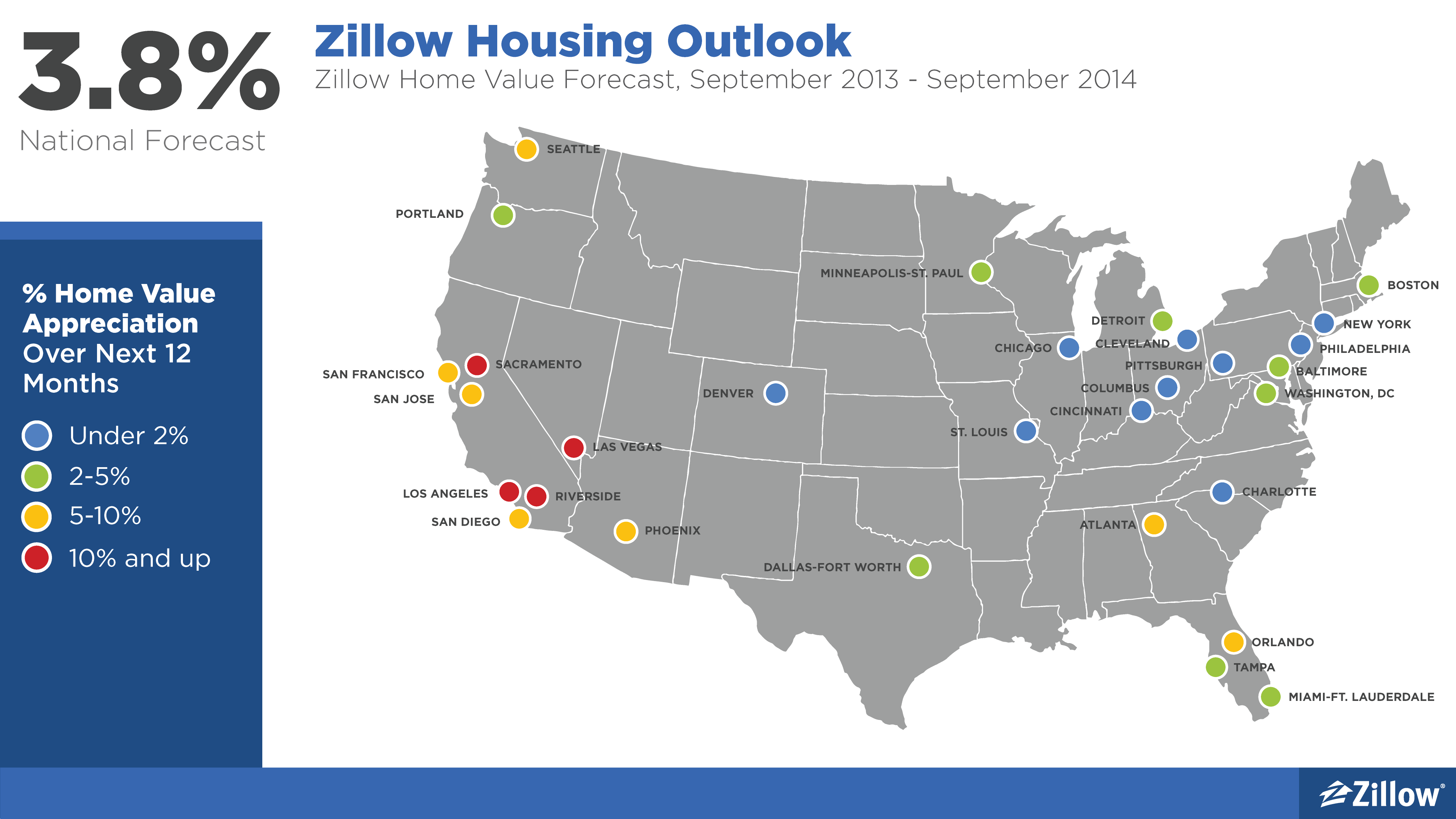 Zillow Home Values Map Housing Market Shows Signs of Cooling in Q3   Zillow Research