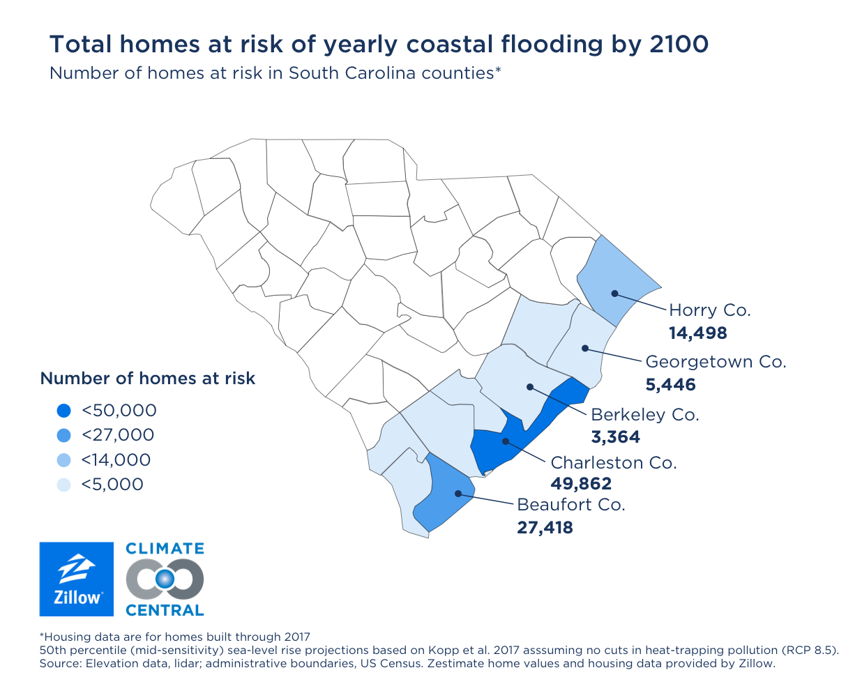 More Than 386000 Homes At Risk Of Coastal Flooding By 2050 Zillow - Us-sea-level-map