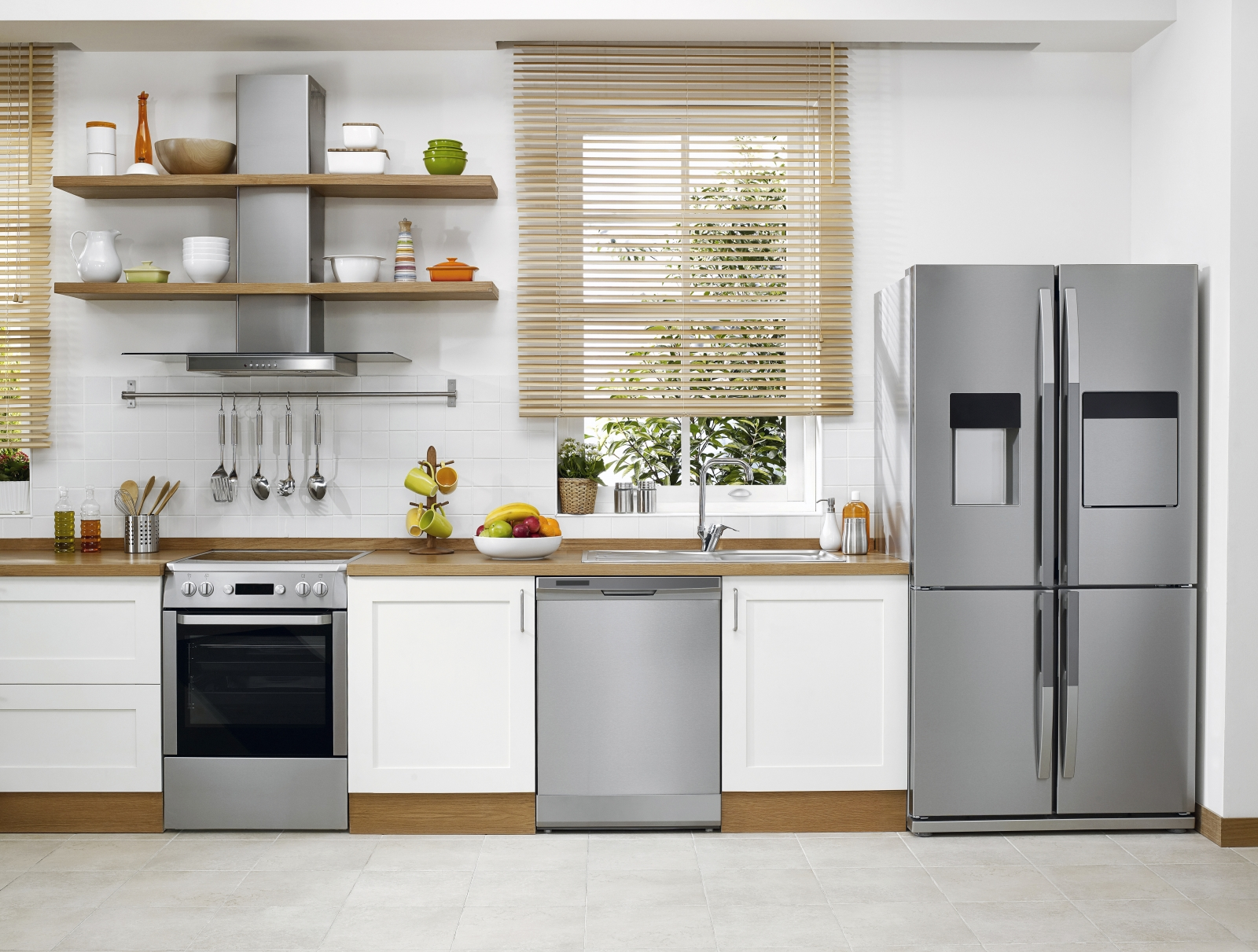 Brand new kitchen appliances in modern kitchen