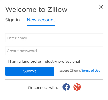 enter your email address and choose a password make sure to check the i am a landlord or industry professional box - Make Profile