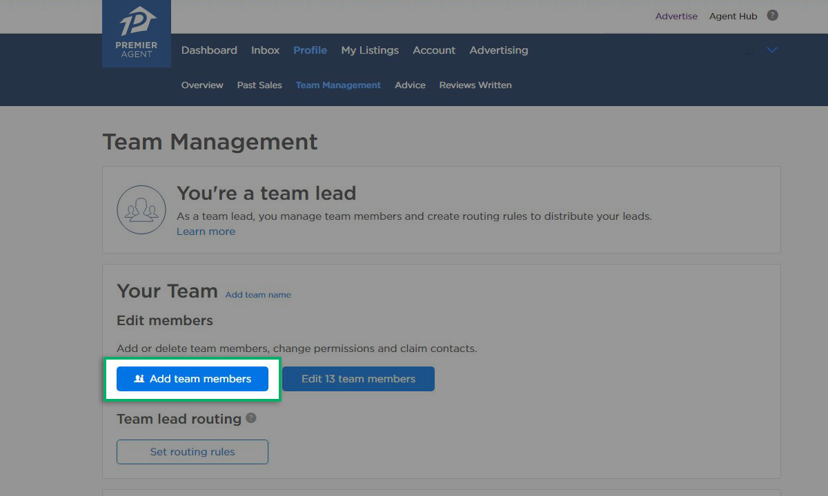 Create a Team Profile | Zillow Premier Agent