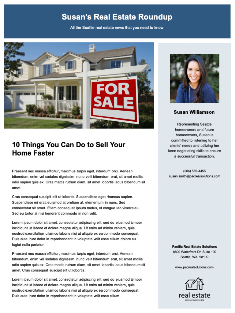 Realtor Newsletter Template on free printable monthly, classroom weekly, microsoft word, microsoft publisher, free office, fun company,