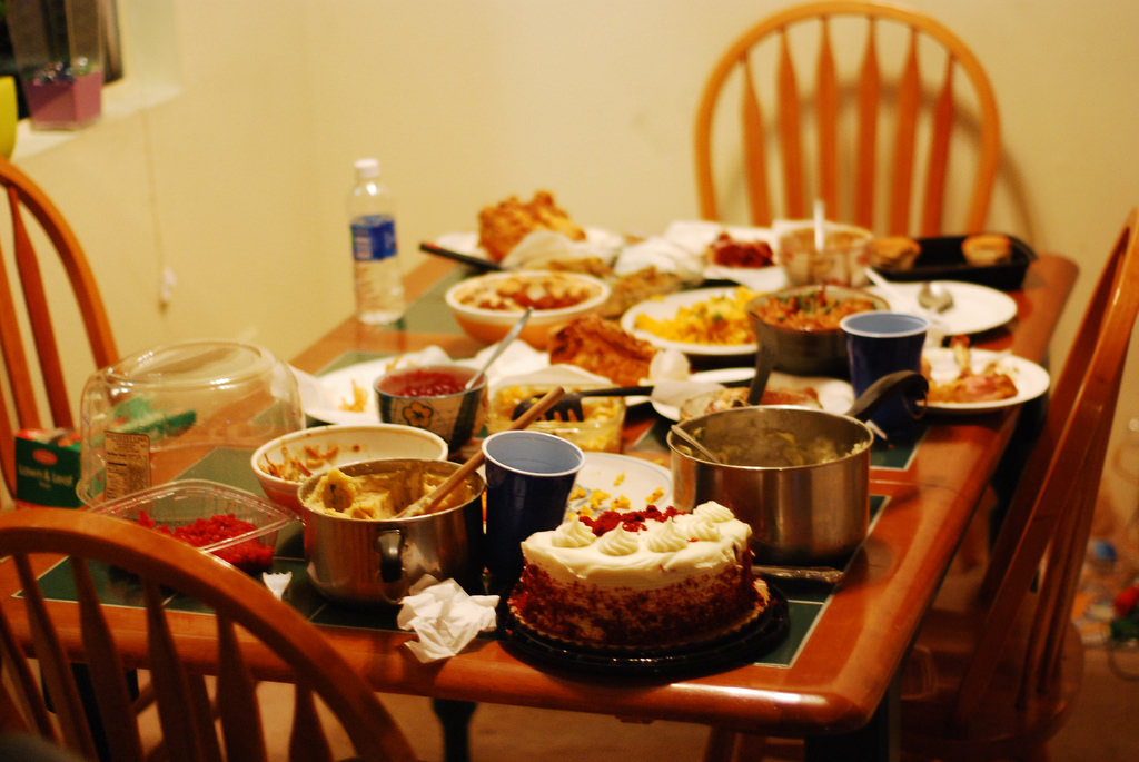 Image of Small Thanksgiving dinner