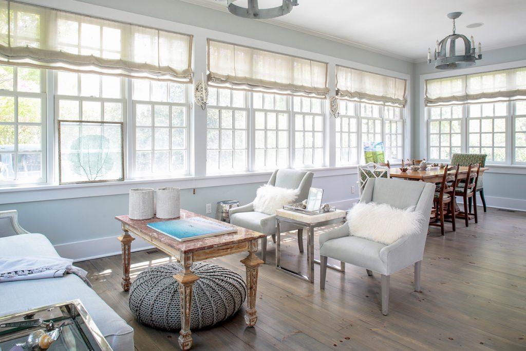 image of chris cuomo southampton home sunroom