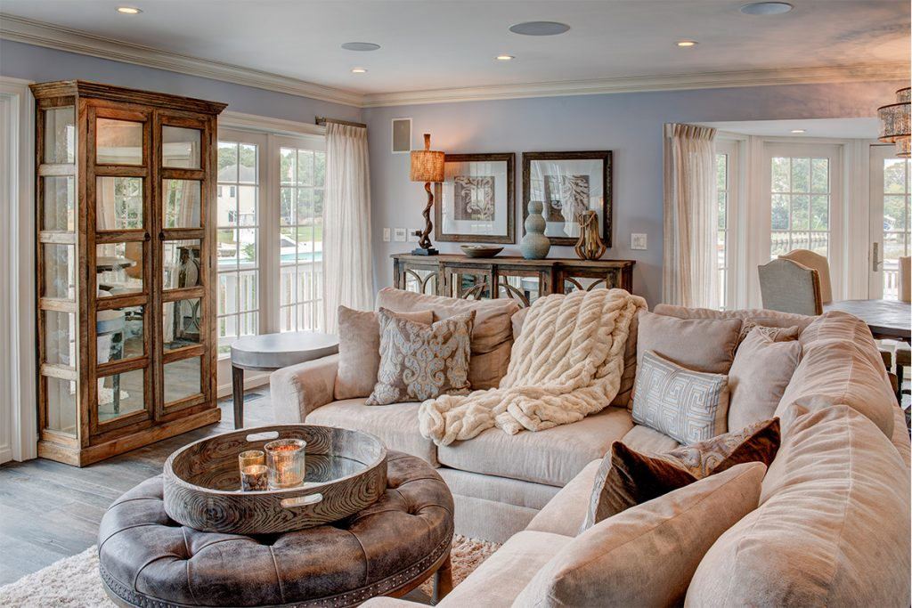 image of hamptons home decorating