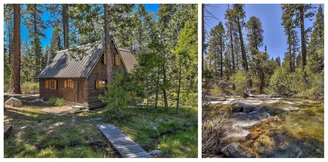 California log cabin for sale