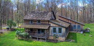 log cabin for sale in cook twp. pa