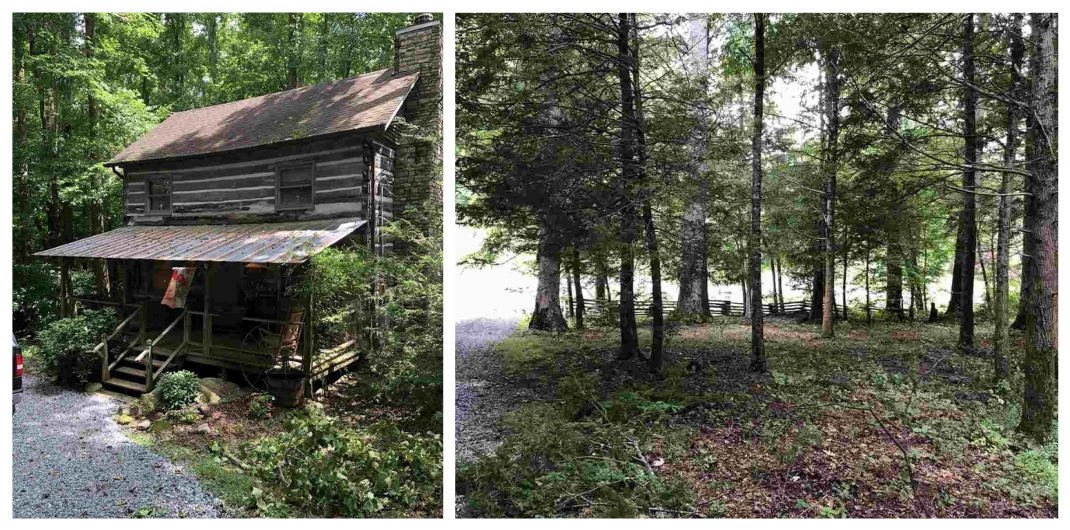 log cabin for sale in Cosby TN