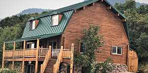 log cabin for sale in fish haven ID