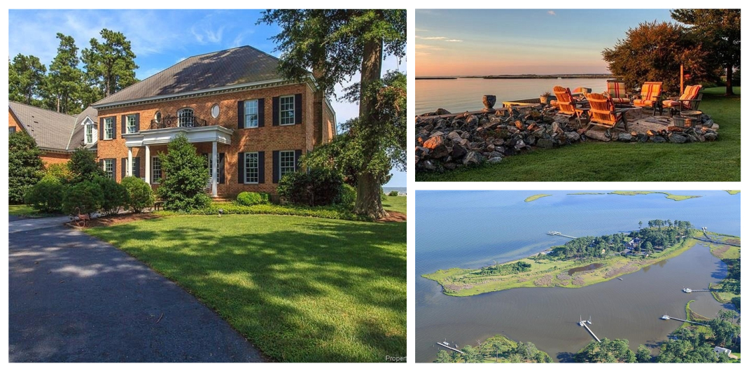 island home for sale in hayes va