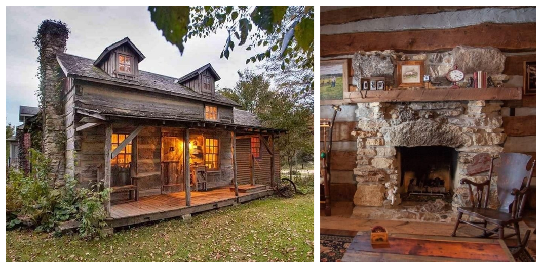 Illinois log cabin for sale