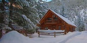 log cabin for sale in Mazama, WA