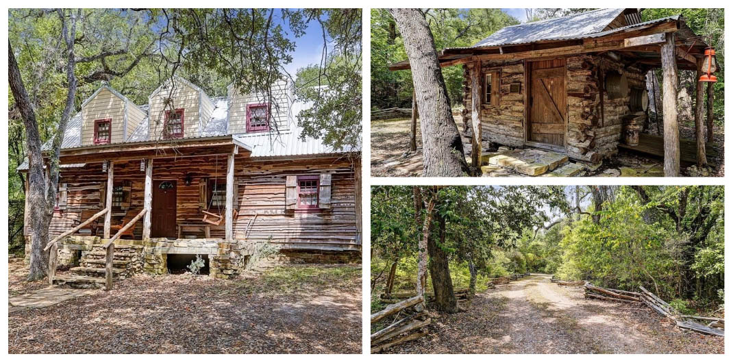 Texas log cabin for sale