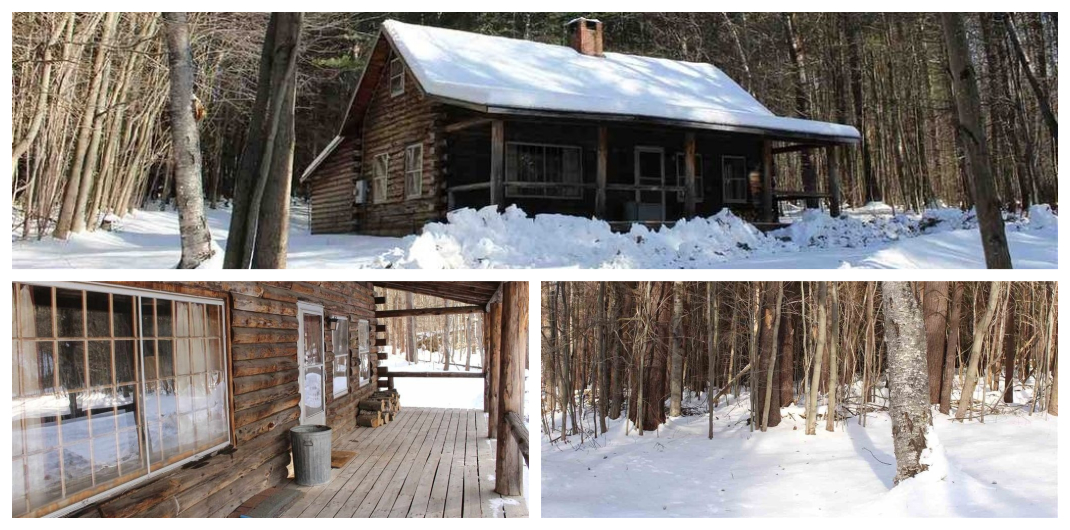 Vermont log cabin for sale