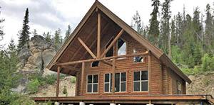 log cabin for sale in Warren ID