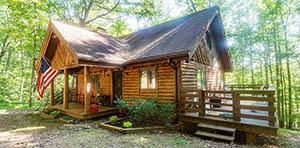 log cabin for sale in Wirtz VA