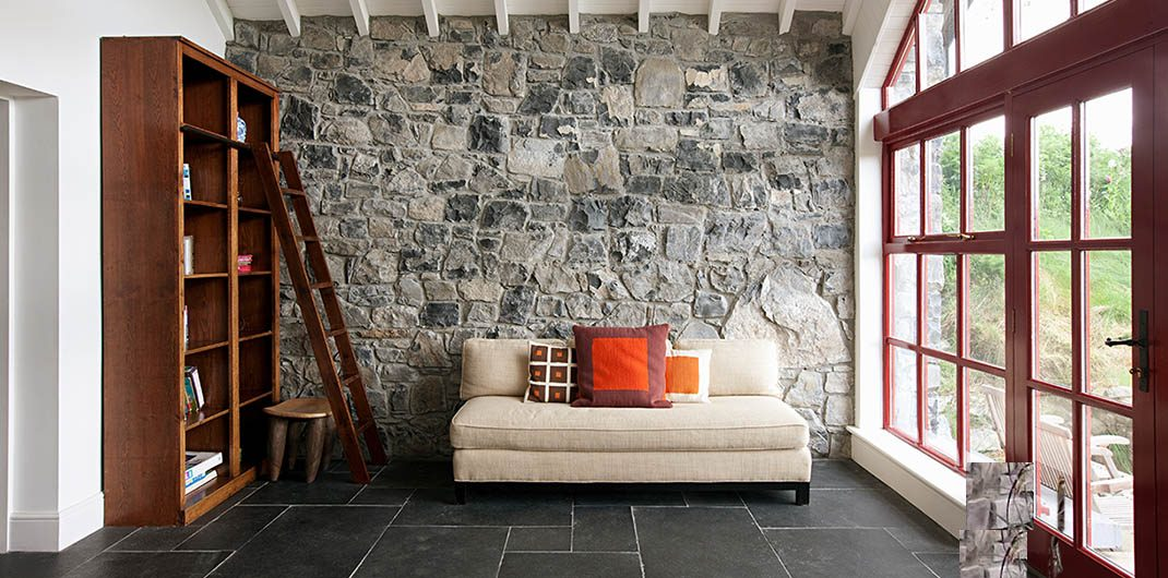 how to use accent stone in home design