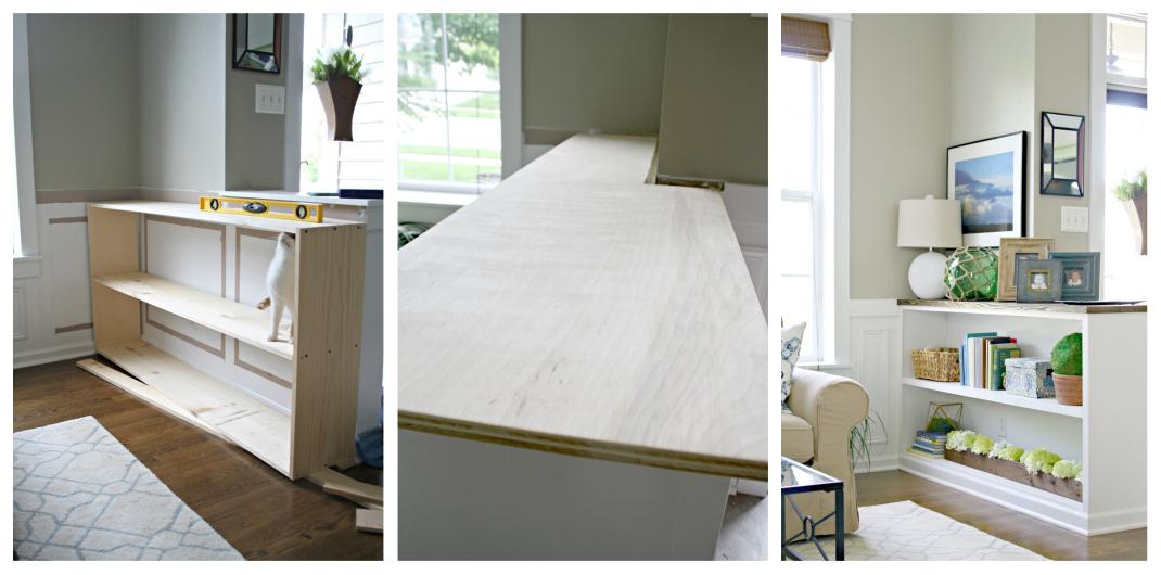 build a bookcase room divider