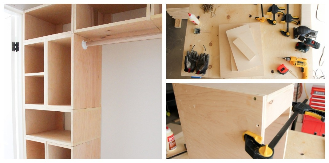 how to build closet shelving
