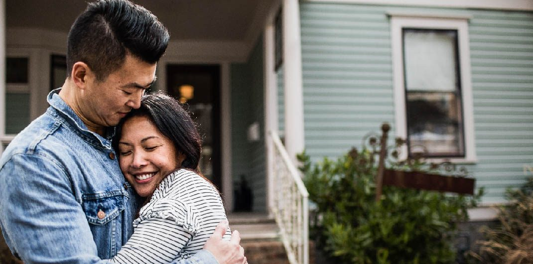 couple bought first home