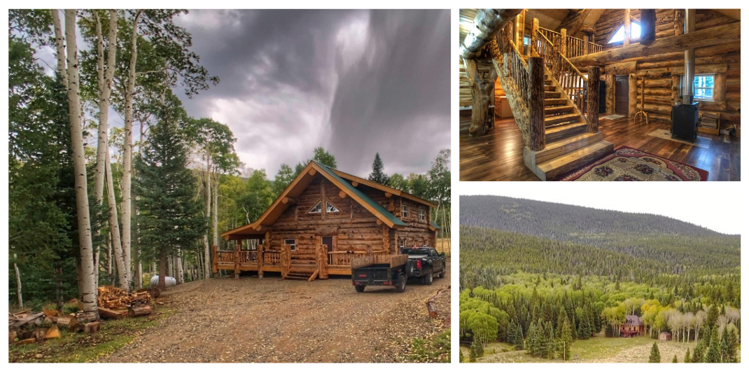 log cabin for sale in fort garland co