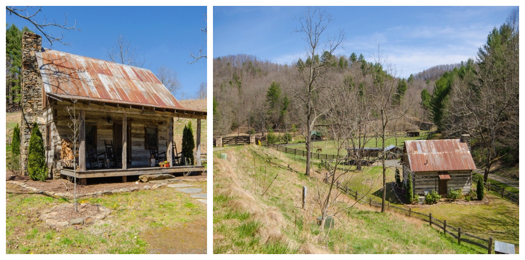 log cabin for sale in green mountain nc