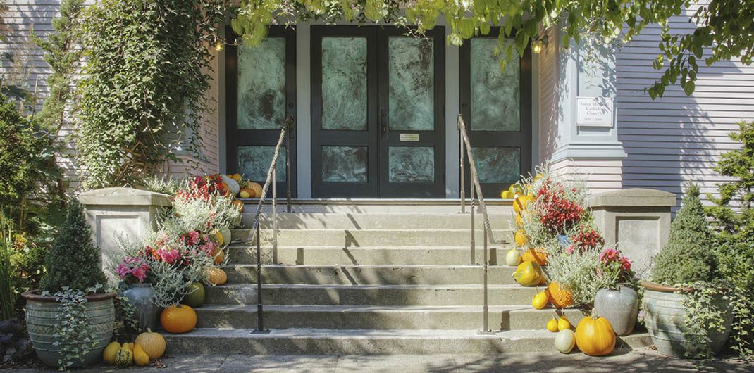 front porch ideas Thanksgiving