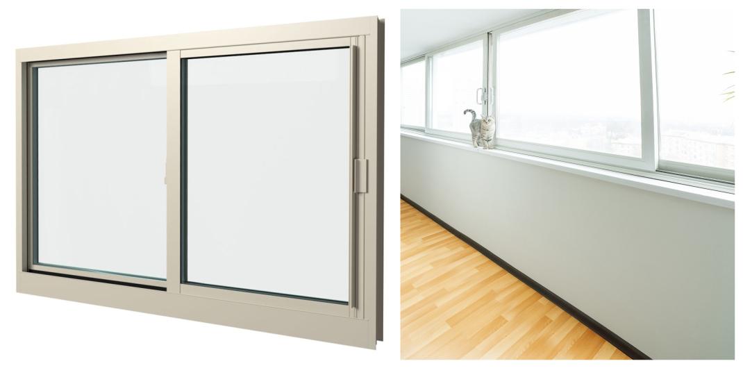 horizontal slider window style