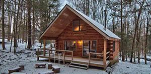 log cabin for sale in lake ariel pa