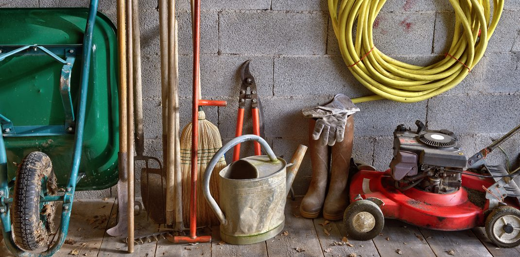 lawn and garden tools and equipment