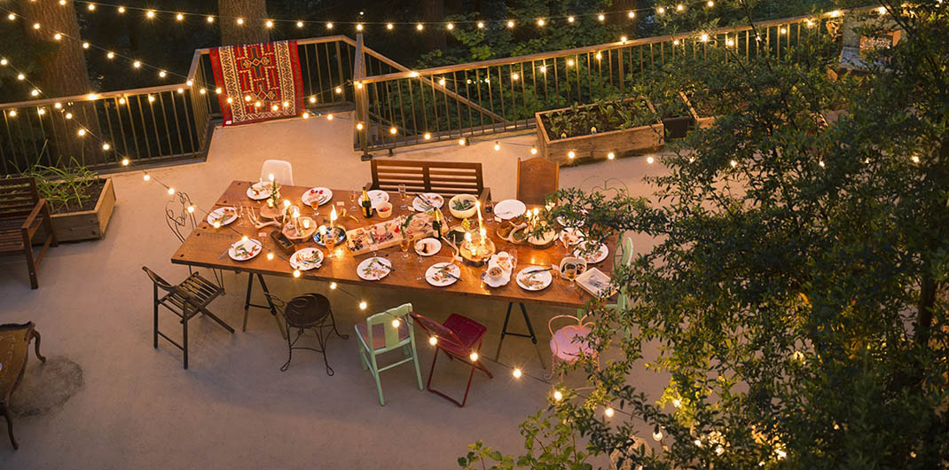 lighting for outdoor dining room