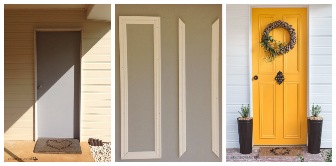 how to make a paneled front door