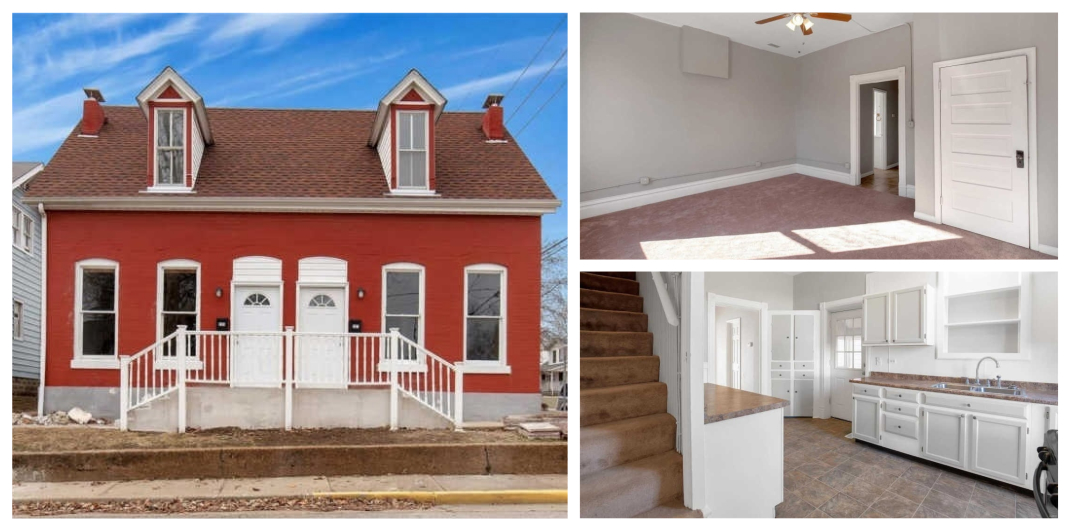 red-painted house for sale in Saint Charles, MO