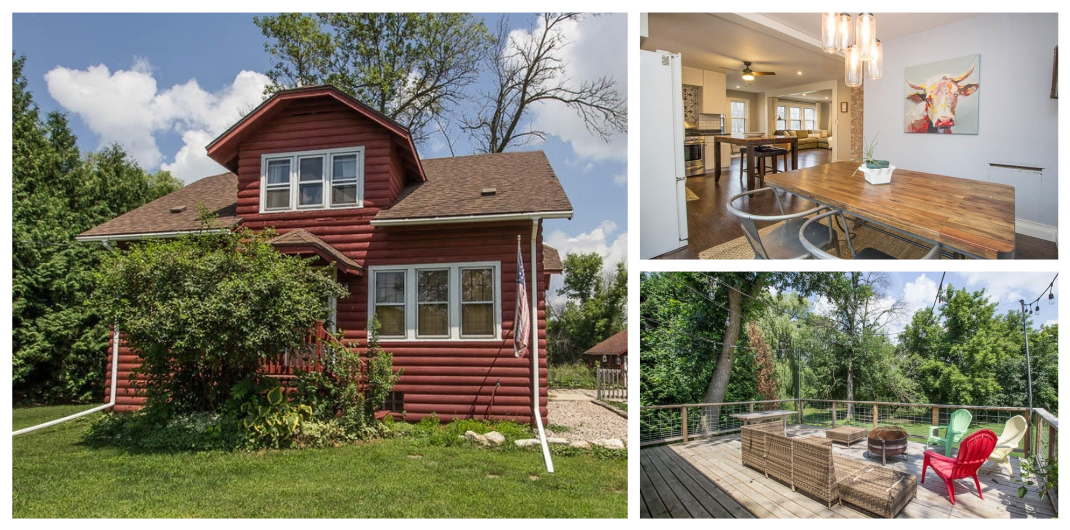 red home for sale in pewaukee WI